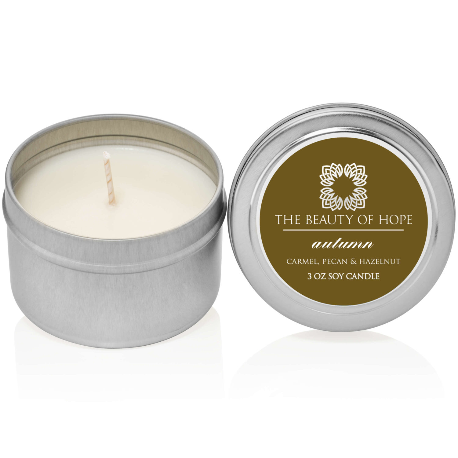 Beauty of Hope Autumn Candle 3oz Tin