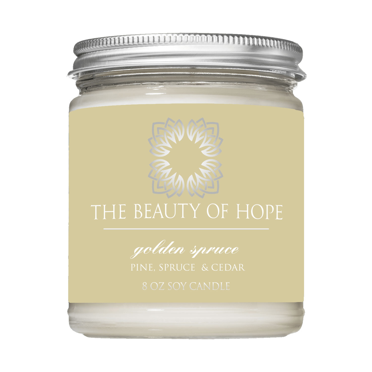 Beauty of Hope Golden Spruce Candle 8oz