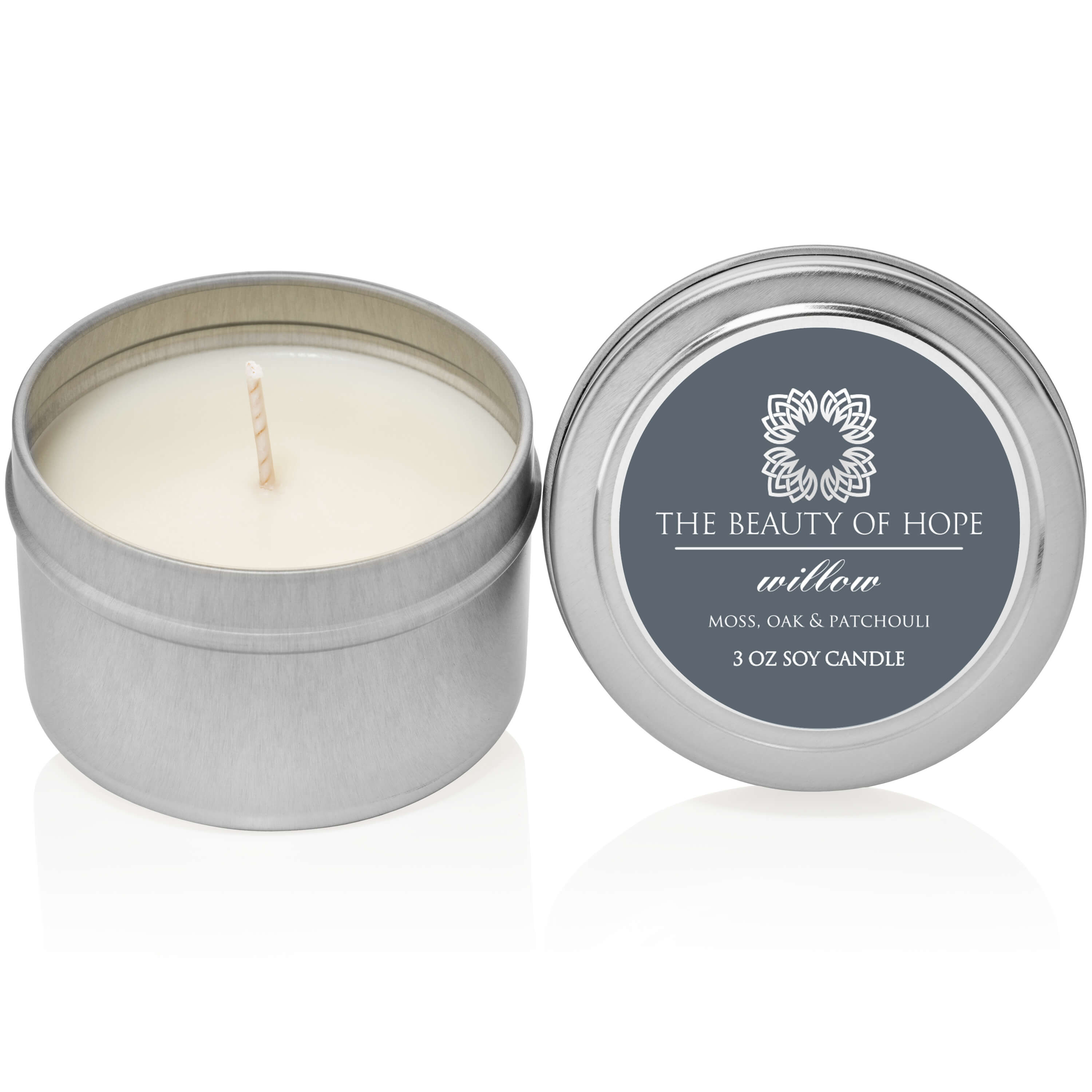 Beauty of Hope Willow Candle 3oz Tin